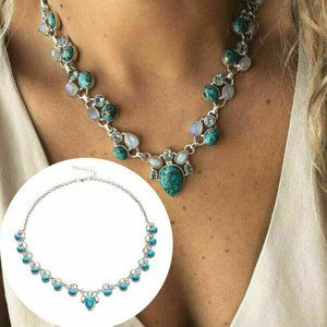 Jewelry - Charm Women Flower Turquoise Personality Necklace